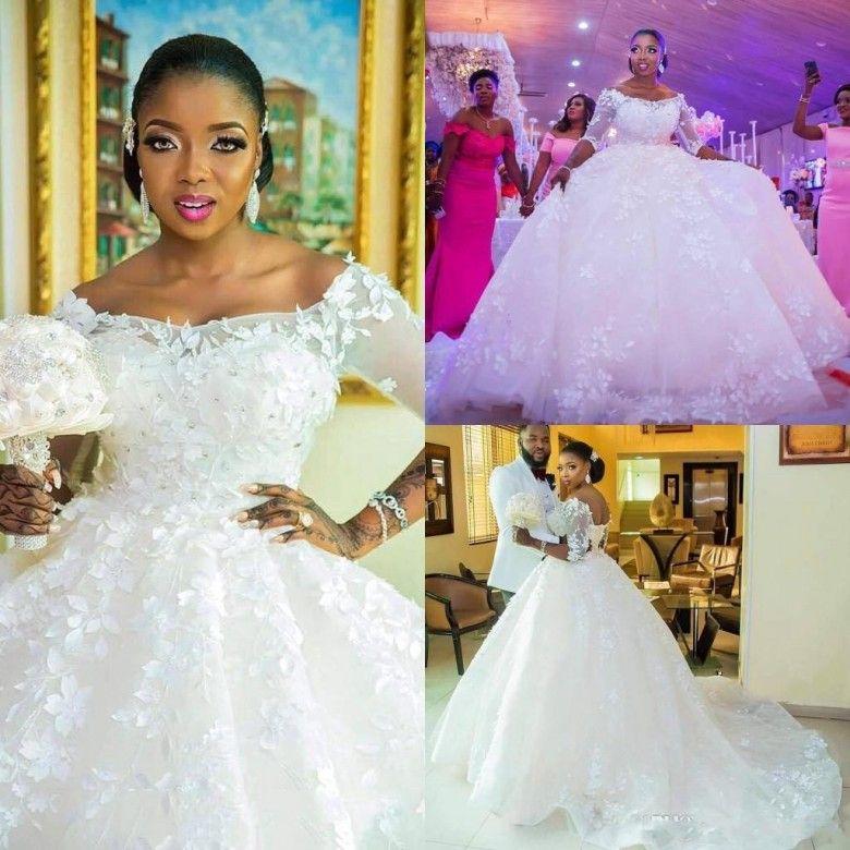2019 Elegant African Princess Wedding Dresses Off The