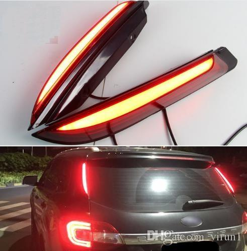 2PCS For Ford Everest 2016 2017 2018 Car LED Tail Light Rear Bumper Light LED Brake Light Auto Bulb Decoration Lamp