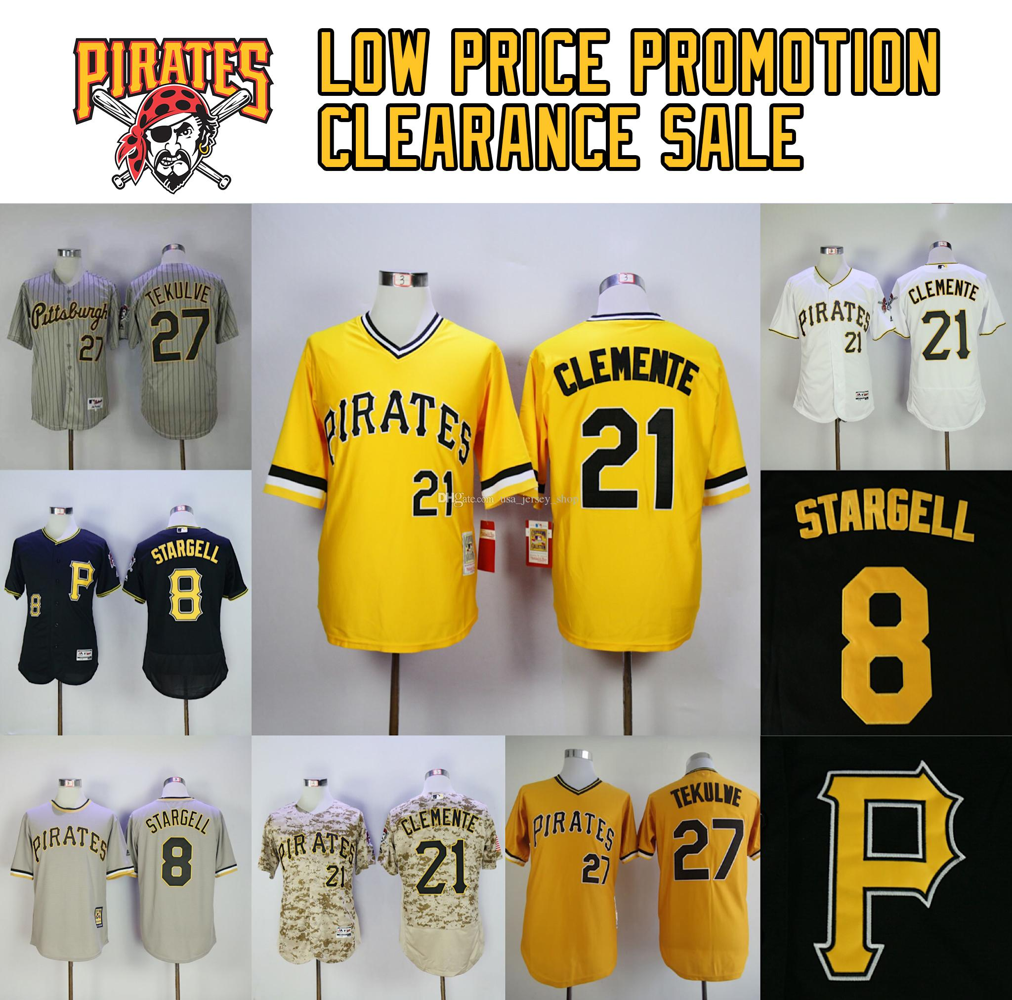 new products 0ba3e 8b9f9 Pirates Jerseys Willie Stargell Roberto Clemente Chris Archer Gregory  Polanco Jung Ho Kang Baseball Jersey Free ship Low price promotion