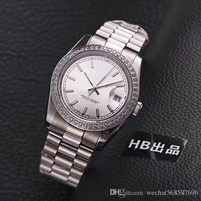 cef6d795524 Compre AAA De Alta Qualidade Da Marca De Negócios Relógios Dos Homens De  Luxo Diamante Safira Automática De Aço Inoxidável Moda Relógios De Ouro E  Prata De ...