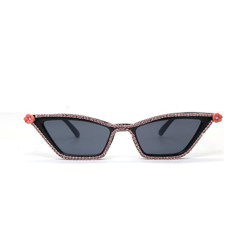 894fc9bbcc5 Sexy Cat Eye Sunglasses Women Small Retro Cateye Pink Rhinestone Red Flower Sun  Glasses Lady 2019 Eyewear Shades UV400 Goggles Online with  28.44 Piece on  ...