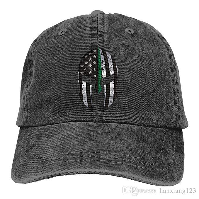 2019 2019 New Designer Baseball Caps American Flag Thin Green Line Spartan  Mens Cotton Adjustable Washed Twill Baseball Cap Hat From Hanxiang123 9109b0ccee4