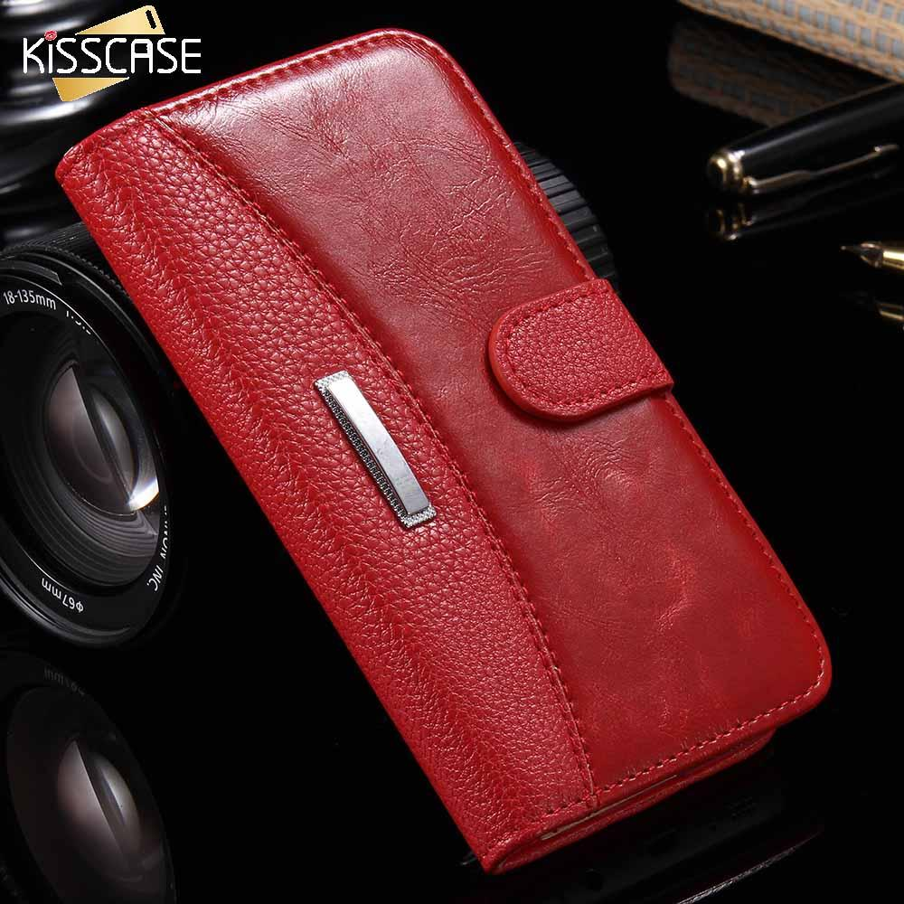 7bb4f194a KISSCASE For IPhone 6 7 5S 8 Leather Case Business Men Women Magnetic Stand  Flip Phone Bag Cover For IPhone 7 6 6S 8 X Plus Case Wholesale Cell Phone  Cases ...