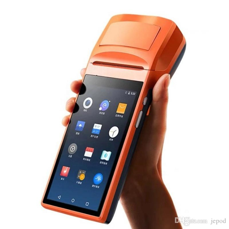 JEPOD JP-V1S Android 6 0 Mobile Smart Touch Screen QR Code PDA NFC Payment  Android Pos System Terminal Sunmi* With 58mm Thermal Printer