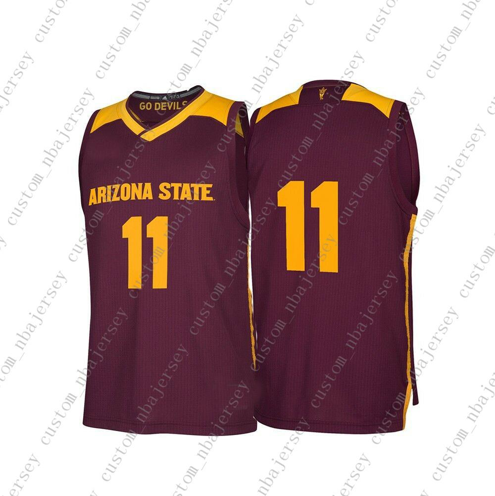 c5460895cf1 2019 Cheap Custom Arizona State Sun Devils NCAA March Madness Maroon  11  Basketball Jersey Personality Stitching Custom Any Name Number XS 5XL From  ...