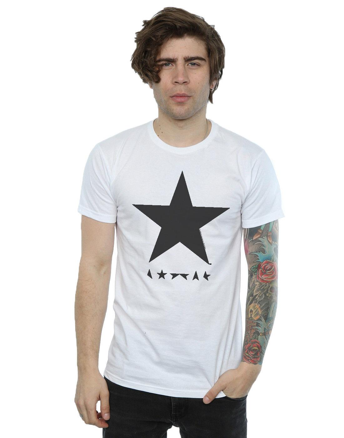 ecc49c5fa1 David Bowie Men S Star Logo T Shirt Streetwear Funny Print Clothing Mans T  Shirt Tops Tees Cheap Tee Shirts Funny Tees From Strong063
