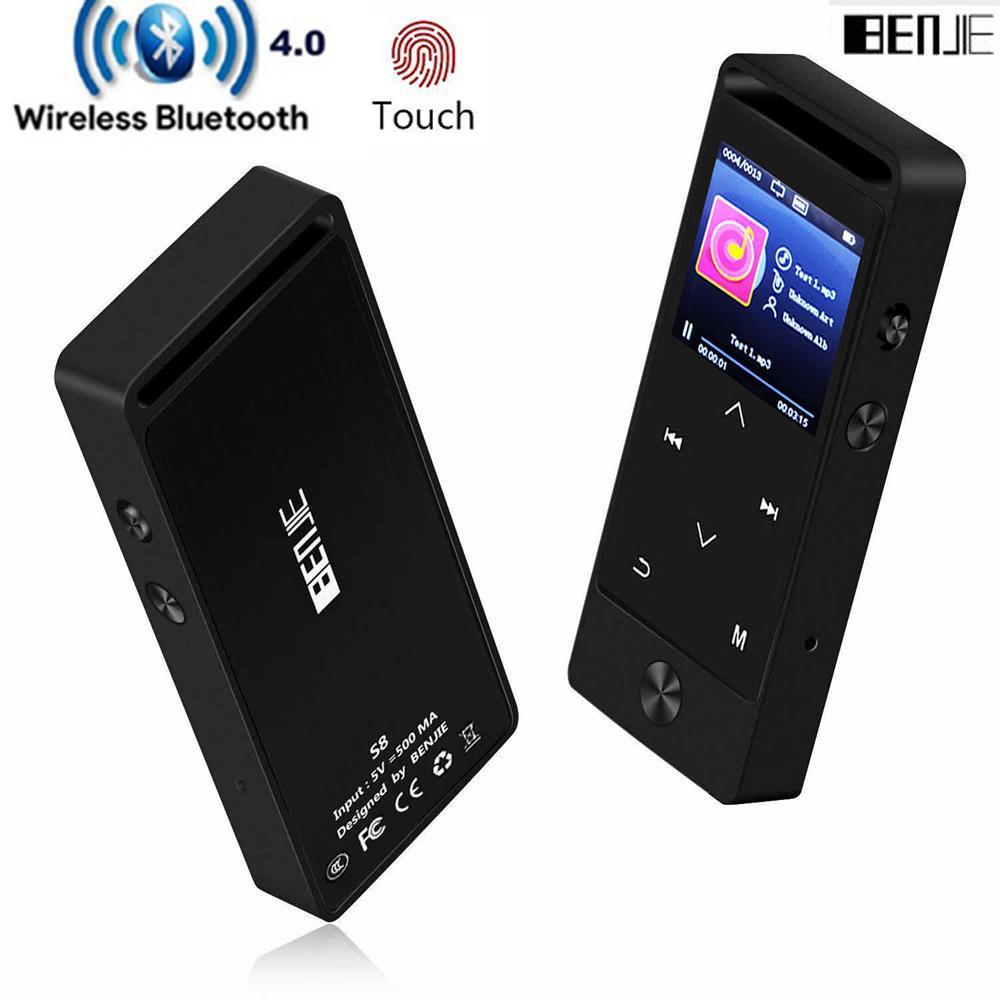 760253863b76 Compre Original BENJIE S8 Reproductor De Música MP3 Con Bluetooth Botón Táctil  8GB Pantalla Ultrafina De 1