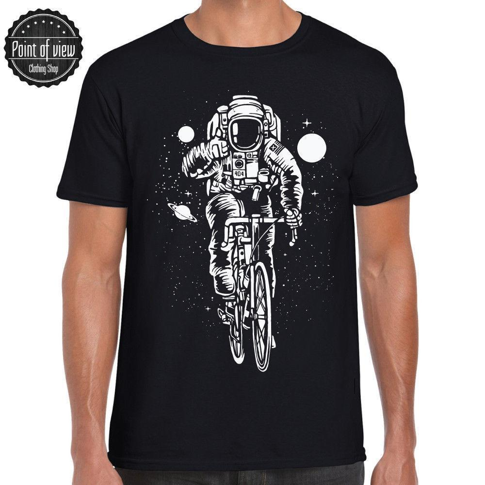63bb400b8 Astronaut Motiv T Shirt Bicycle Fahrrad Lustiges T Shirt Star Moon Graphic  Tee Cool T Shirts For Men Cheap Tee Shirts From Peng008, $12.08| DHgate.Com