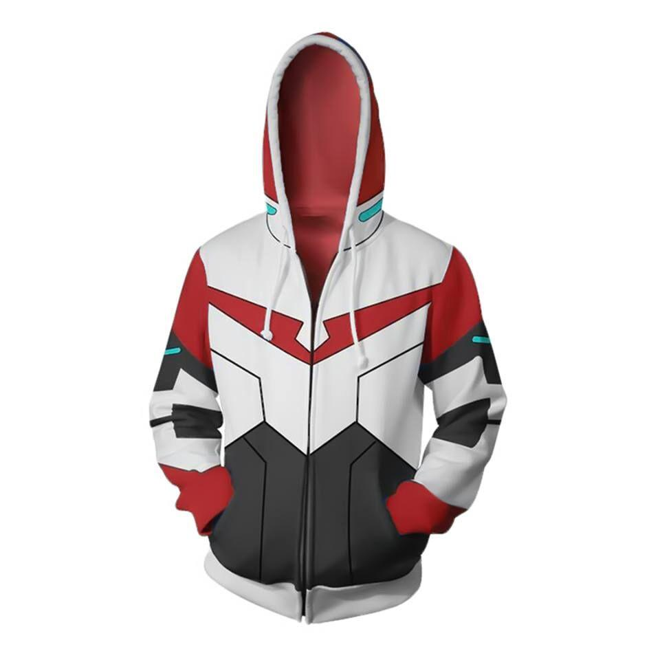2019 New Autumn Winter 3D print Keith Voltron Legendary Defender Cosplay Zip Up Hoodie Jacket clothing