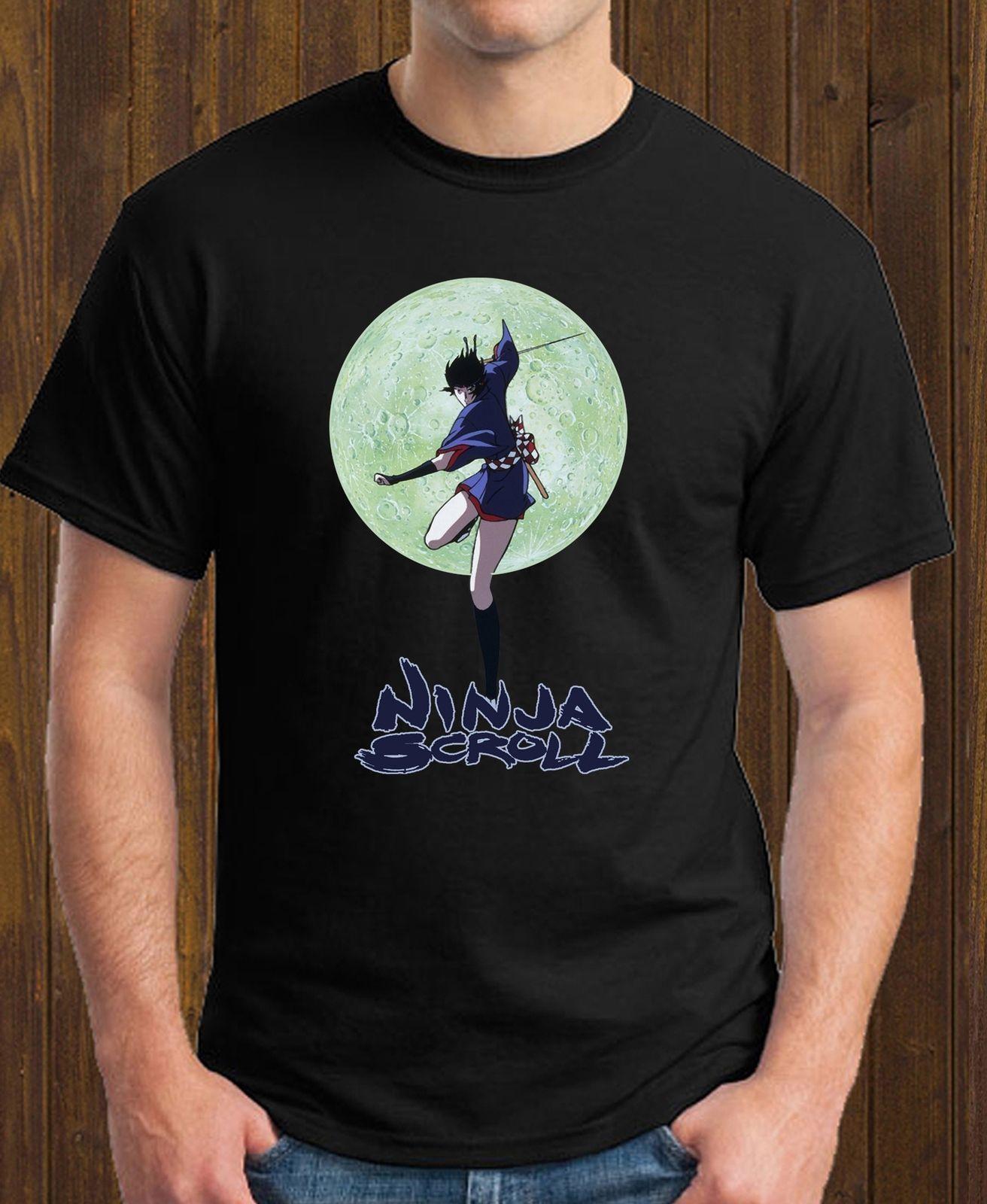 a24f1aad96 Compre Ninja Rolo Kagero Lua Jubei Anime Manga Preto T Shirt Engraçado  Frete Grátis Unisex Casual Tshirt Top De Thebestoree