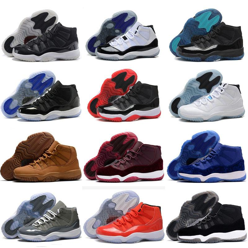 Prom 11 Night Xi Mütze und Kleid 11s Gym Red Prm Erbin Midnight Navy Frauen Männer Basketball Schuhe Bred Space Jam Sport Sneakers