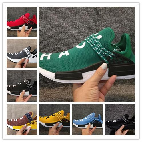 00bffd41d4c9e Wholesale High Quality 2019 NMD Human RACE Pharrell Williams Hu Trail NERD  Men Womens RunnING ShOes NMD XR1 ShOes Size 36 45 Blue Shoes Clogs For  Women From ...