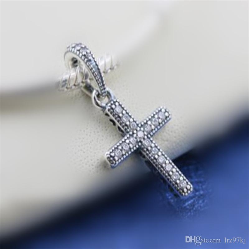 cd777ee05 2019 New2018 Winter 925 Sterling Silver Classic Cross Pendant Charm Bead  Fits European Pandora Jewelry Bracelets Necklaces & Pendants From Lrz97kj,  ...