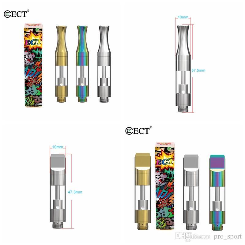 Original ECT-KENJOY B1 B1S Empty Vape Cartridges Dab Pen Wax Vaporizer  Glass Thick Oil 1ML Ceramic Vape Cartridges 510 Thread Battery Ecig