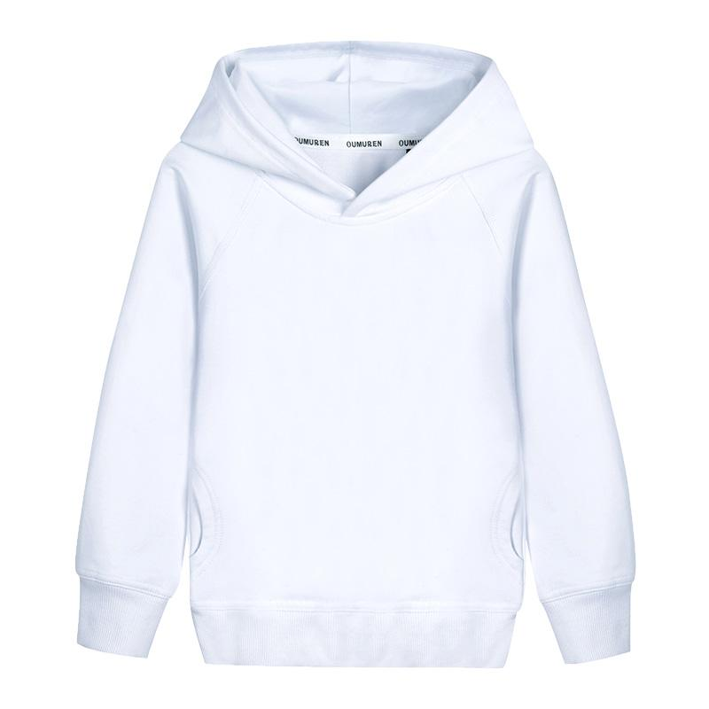 aed0463fa04 2019 Boys Hoodies Outerwear Unisex White Hooded Girls   Boys Sweatshirt  2018 Kids Clothes For 2 3 4 6 8 10 Years RKH175004 From Bluetiger