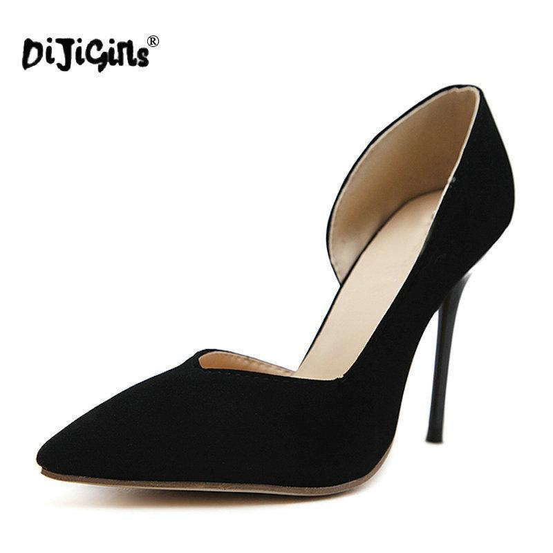 sports shoes a841d 26d9c Kleid Dijigirls Damen Schuhe Schwarze Pumps Mode Spitz Reife High Heels  Schuhe Frauen Pumps Stiletto 10 cm Elegant