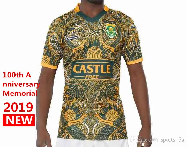 99f87a3f06b 2019 Hot Sales 2019 South Africa 100th Anniversary Jersey Shirt Springboks  South African National Team Rugby Jerseys Shirts S 3xl From Sports 3a