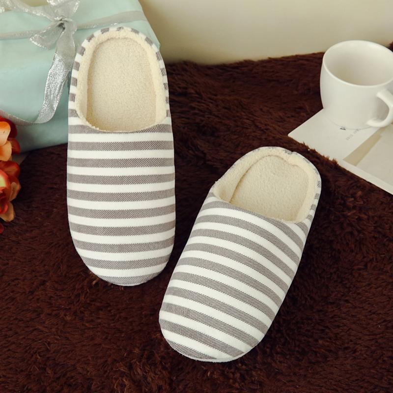 589bba33596 Slipper Women Striped Bottom Soft Home Slippers Warm Cotton Shoes Women  Indoor Slippers Slip On Shoes For Bedroom House Riding Boots Hiking Boots  From ...