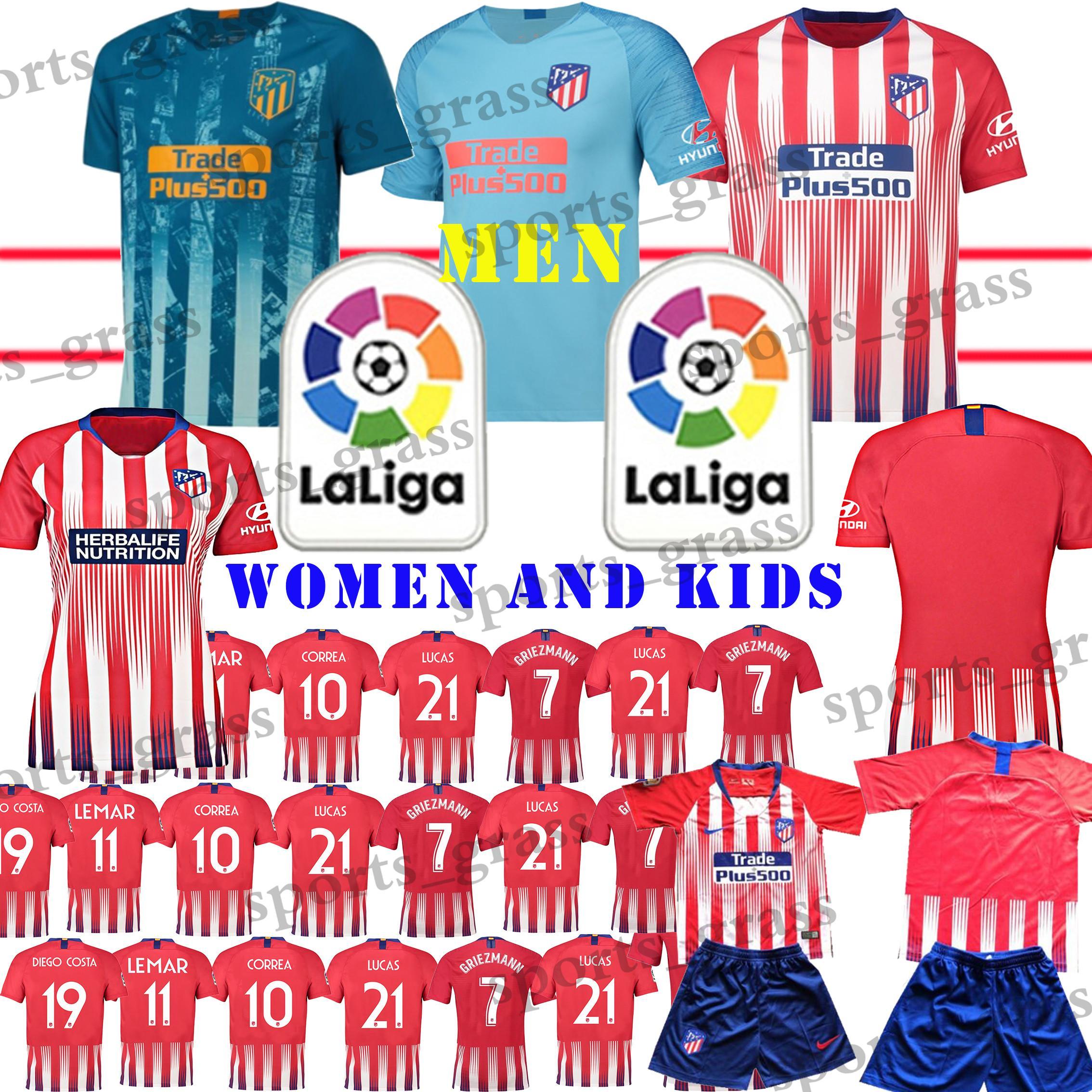 TOP Madrid Atletico Soccer Jerseys Promotion Griezmann Correa Lucas ... 23efc837c