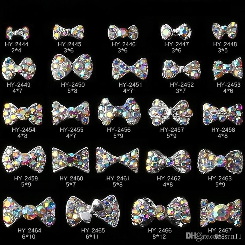 Designed 10pcs Man-made Pearl Alloy Glitter Rhinestone Bow Nail Art Salon Decor Stickers Tips Diy Decroations Studs Nails Art & Tools Beauty & Health