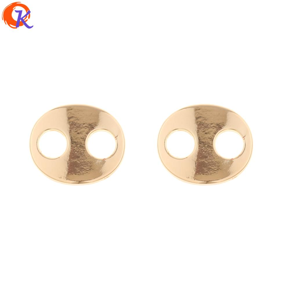 wholesale 100Pcs 13*16MM Jewelry Accessories/Earring Connectors/Oval Shape/DIY/Hand Made/Jewelry Parts/Earring Findings