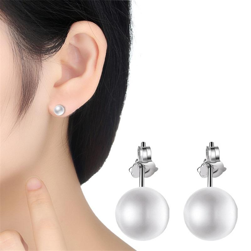 23ef1a052e48b MILOYOU Simple Fashion Big Simulated Pearl Stud Earrings for Women Elegant  Party Wedding Anti-Allergy Jewelry Trendy Gifts ML074
