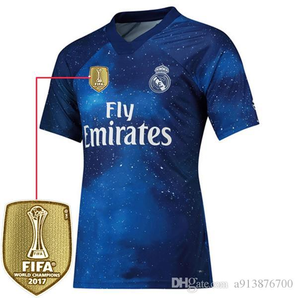cheap for discount 75a43 7eb85 2019 Real Madrid EA Sports Jersey 2018 2019 Thai Top quality MODRIC Marcelo  Man Woman Kids Football shirt BALE ASENSIO Third Kit soccer jers