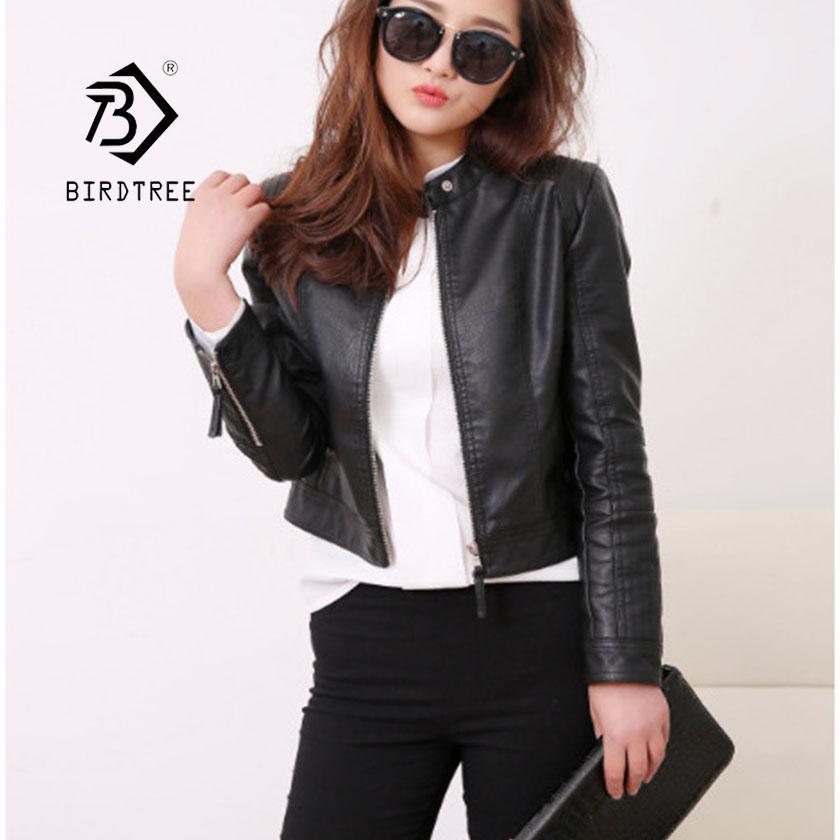 3a7a2e0736aa 2019 2019 Mandarin Collar Women Faux Leather Zippers Rivet Jacket New  Fashion Motorcycle Black Outwear Women Coat Hots Sale C8D502J From  Zhaolinshe, ...