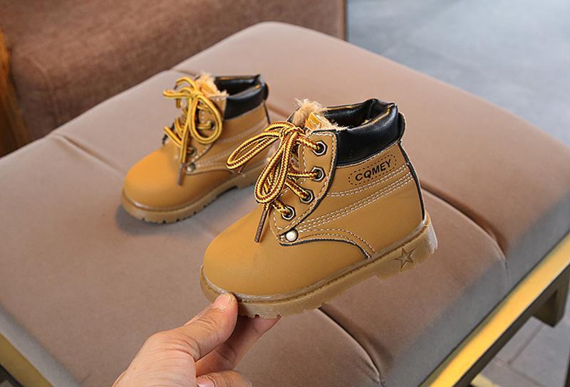 11209260feb Compre 2019 Primavera Otoño Invierno Niños Zapatillas Martin Botas Niños  Zapatos Para Caminar Niños Niñas Felpa Moda Botas Para La Nieve A  16.77  Del Onwond ...
