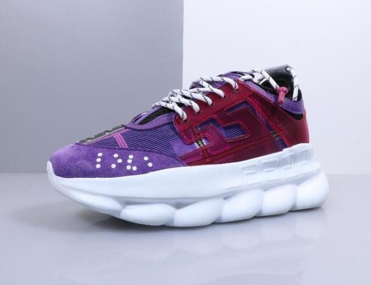 Reaction Violet Love Designer Hommes Marque Chainz Rose Blanc De Femmes Fre Spotted 2 Chaussures Chain Mode Tan Sneakers bf7y6g