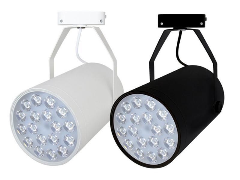 Luces de riel LED 3W / 5W / 7W / 12W / 18W Luz de riel de alta potencia Tienda Tienda de ropa Rieles Focos Iluminación interior