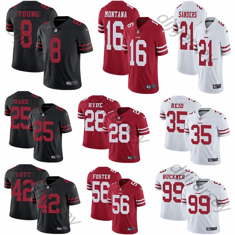 sports shoes 1a596 c38eb San Francisco Men s 49ers Jimmy Garoppolo Jerseys Steve Young Joe Montana  Jerry Rice Color Rush Vapor Untouchable Limited Football Jersey