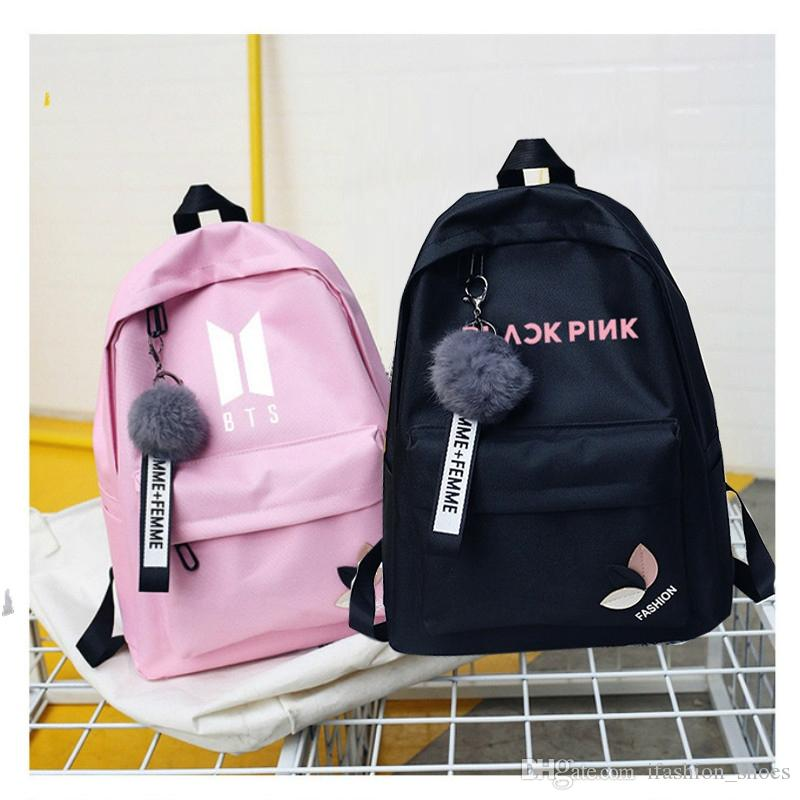 Bts Twice Exo Monsta X Wanna One Kpop K-pop Women Got7 Sac A Dos Female Backpacks School Bag Pack For Teenager K Pop Girls #33148