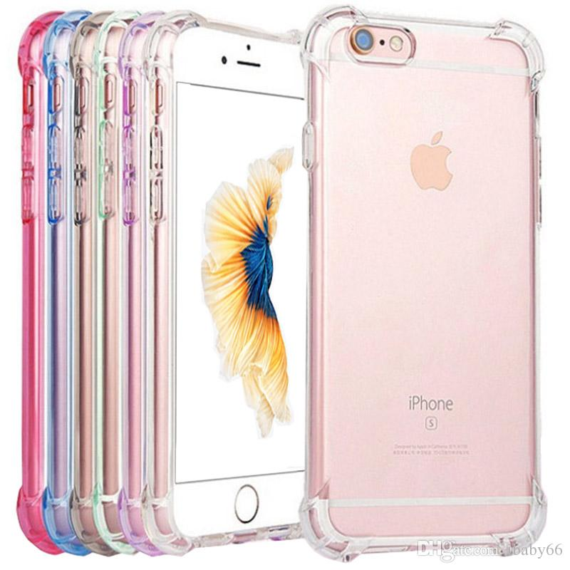 newest bf9d7 063c3 Soft Silicone Transparent Cases For iPhone X XS 6 6S 8 Plus Cover For Apple  iPhone XS MAX XR 7 Clear Shockproof Ultra Thin Case
