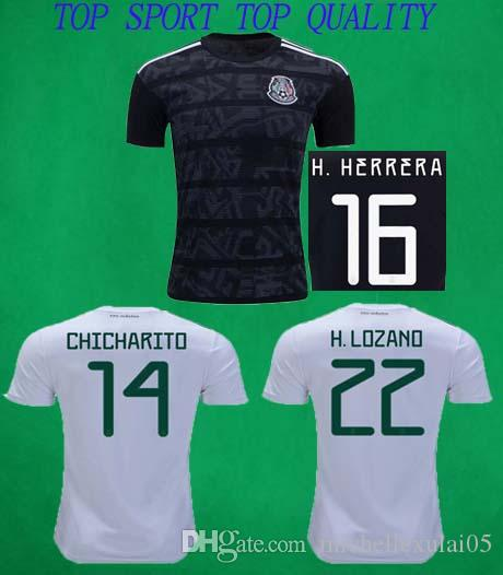 e914e8bfe 2019 19 20 Mexico Soccer Jerseys Home Away Shirts CHICHARITO R. MARQUEZ H.  LOZANO Football Tops Mexico Gold Cup 2019 Black Football Shirts From ...