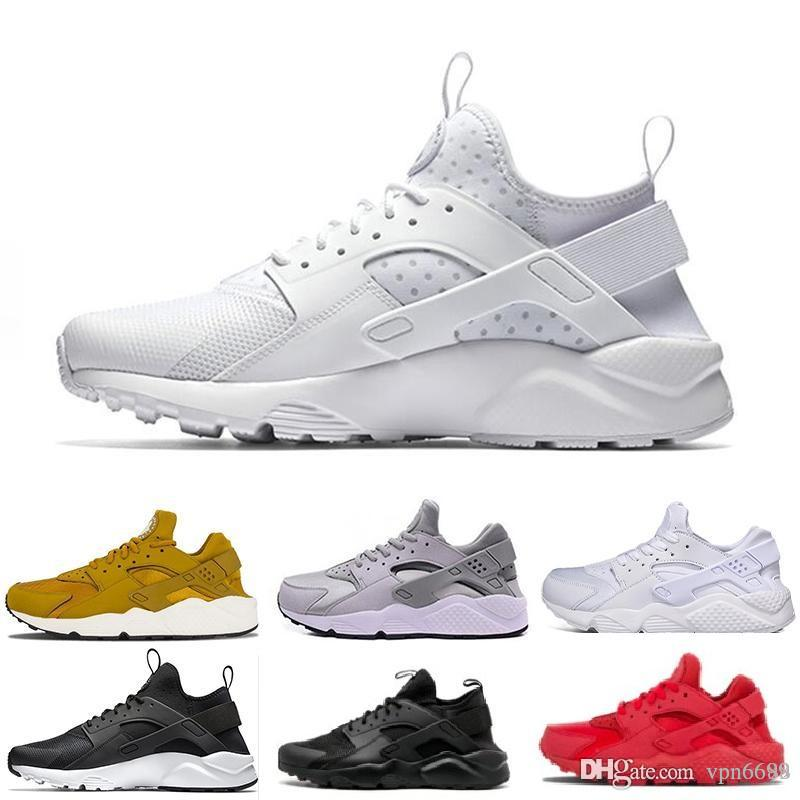 ef8bcee78b46 2019 Huaraches 1 4 IV New Colors Casual Shoes For Men   Women Huarache  Ultra Breathable Mesh Cashion Classic Retro Shoes Eur 36 45 Clogs For Women  Shoe ...