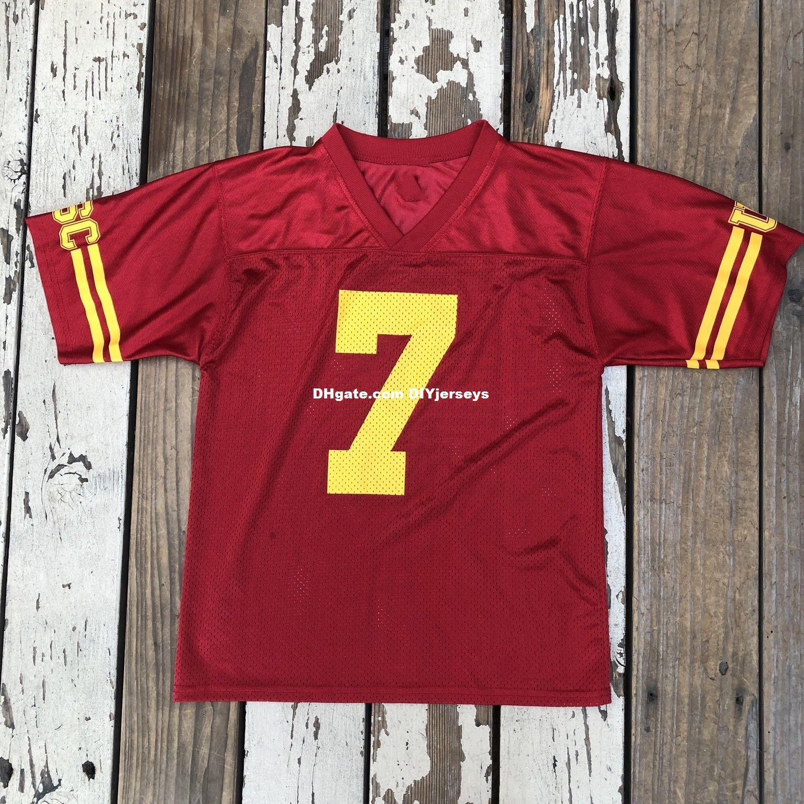 23d389936 ... sale 2019 wholesale cheap ncaa usc trojans 7 jersey customize any name  no. men women