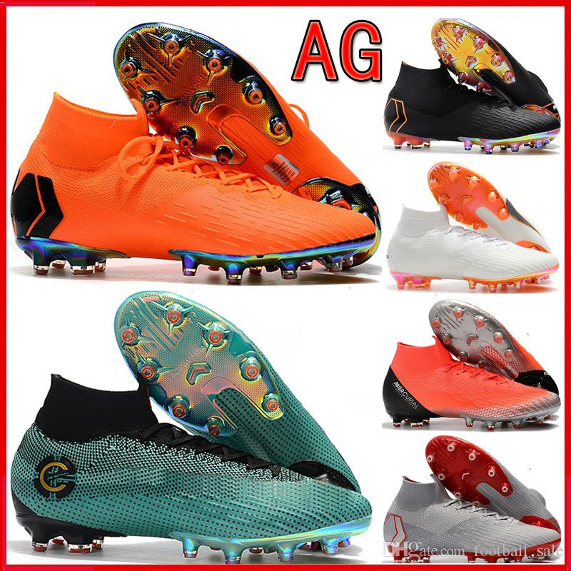 competitive price 4c14e 291ac Acheter 2019 Pas Cher Hommes Haute Chaussures De Football CR7 Mercurial  Superfly VI 360 Elite AG Chaussures De Football Neymar Superfly ACC Hommes  Crampons ...