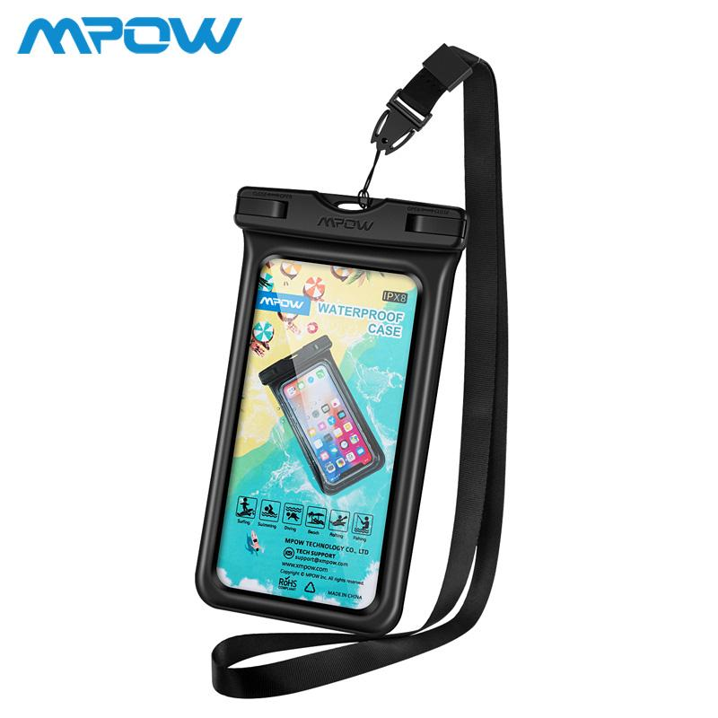 online store 778ce c38c8 Mpow PA137 Universal IPX8 Waterproof Case 4-6inch Cellphone For iPhone Xs  Xr Huawei/Samsung Floating Dry Bag Pouch Underwater