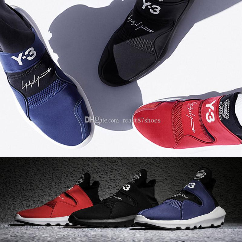 5e02528982a8e 2019 High Quality Yohji Y 3 Y3 Suberou Middle Upper Elastic Cloth Running  Shoes Designer Y3 Casual Sports Shoes 36 45 From React87shoes