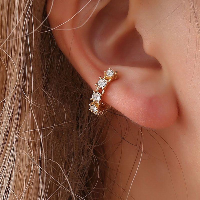 H: orecchini di clip HYDE Oro colore senza Ear Piercing Brinco dell'orecchio del polsino orecchini le donne gioielli di cristallo boucle d oreille DY