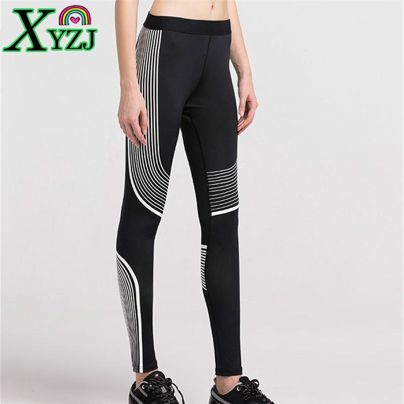 e26141d7b6300 2019 NEW Stylish Yoga Pants Women Sports Fitness Training Exercise  Bodybuilding MMA Striped High Elastic Breathable Slim Sportswear From Xyzj,  ...