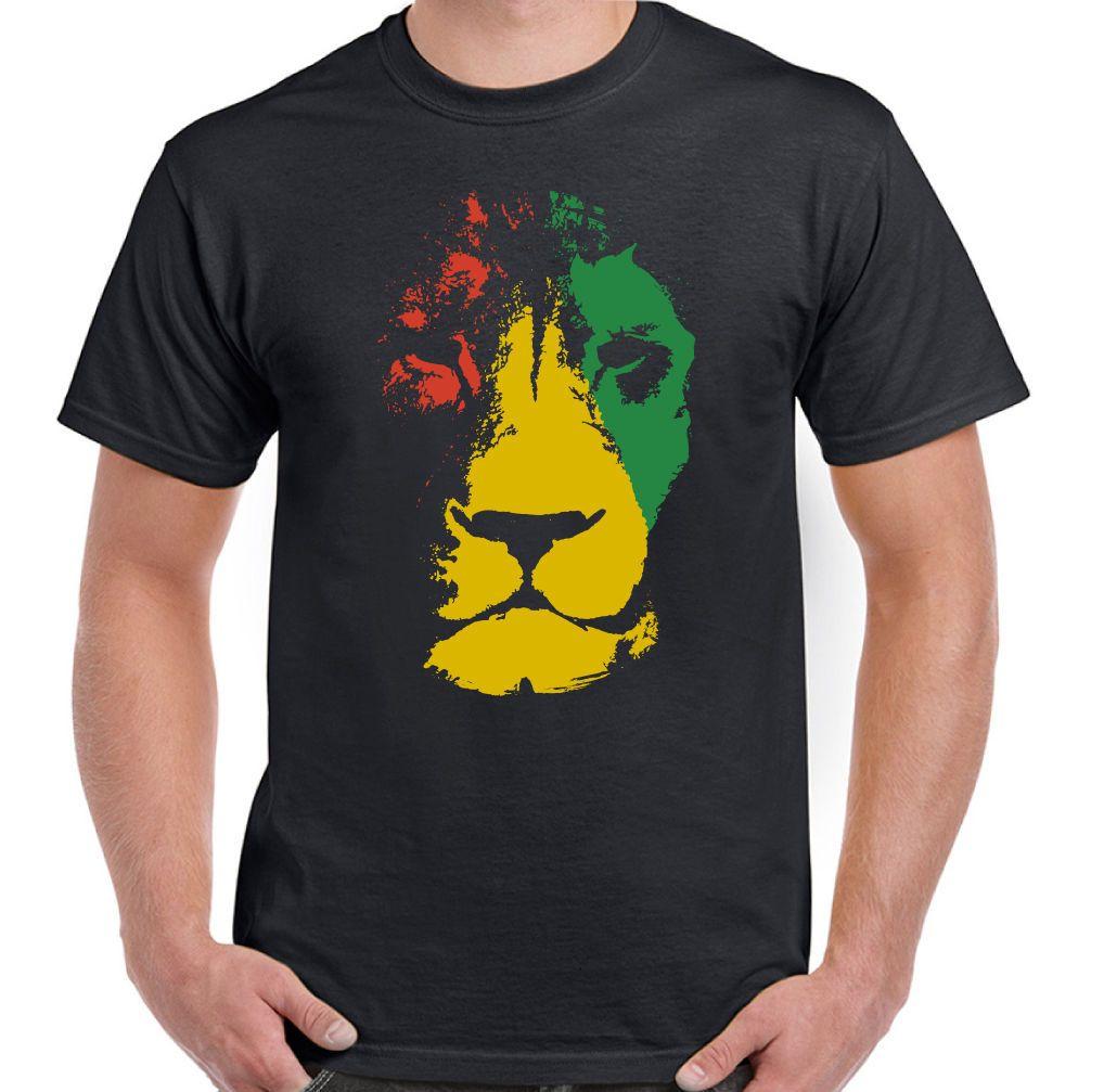fcccc99cd Jamaica Lion Mens Reggae T Shirt Jamaican Bob Marley Flag Rastafarian Rasta  Cartoon T Shirt Men Unisex New Buy Tee Top T Shirt Sites From Cls6688520