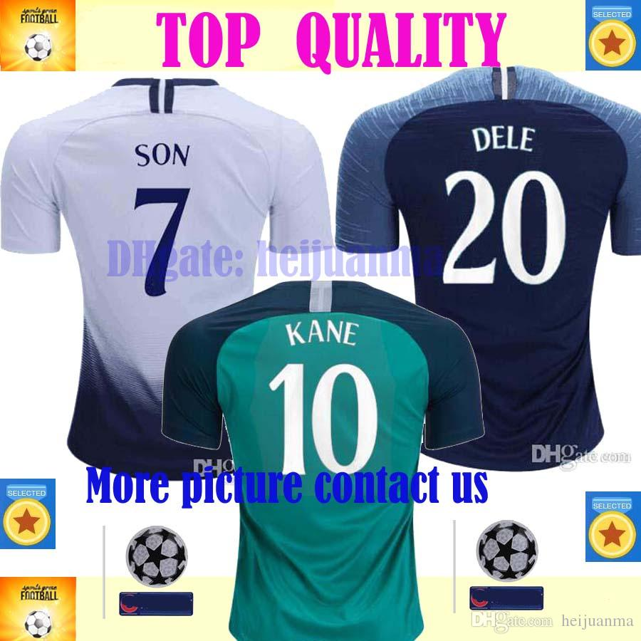7a1fa307a 2019 Top Thailand Quality KANE Spurs Soccer Jersey 2018 2019 LAMELA ERIKSEN  DELE SON Jersey 18 19 Football Kit Shirt Men From Heijuanma