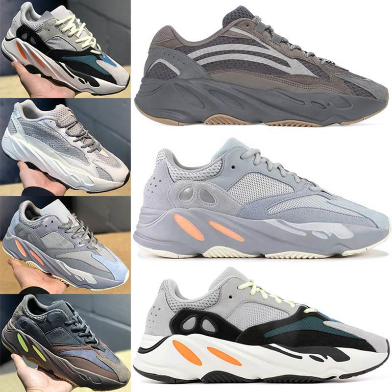 hot sale online 3c6ce 5f0d3 Salt 2019 Kanye West Geode 700 700s V2 Wave Runner Running Shoes For Mens  Women Static 3m Mauve Solid Grey Luxury Designer Shoes