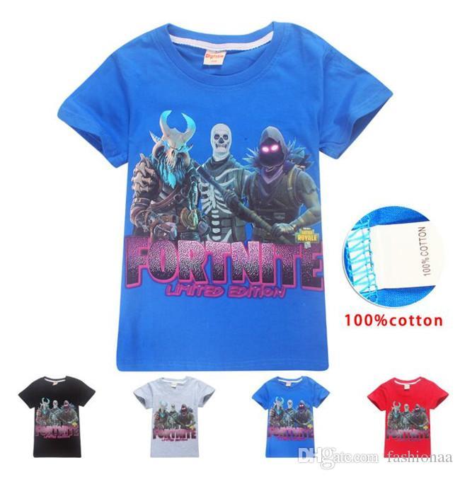 a27ef4e9707e 2019 Fortnite New Kids Designed T Shirt Clothes For Big Boys Girls ...