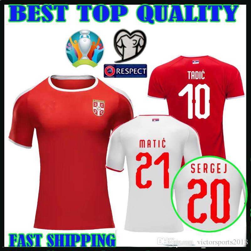 6273c4fc4 2019 European Cup 2019 Serbia Soccer Jersey Serbia IVANOVIC 6 MITROVIC 9  TADIC 10 KOLAROV 11 KOSTIC MATIC 21 Football Shirt Uniforms TOP QUALITY  From ...