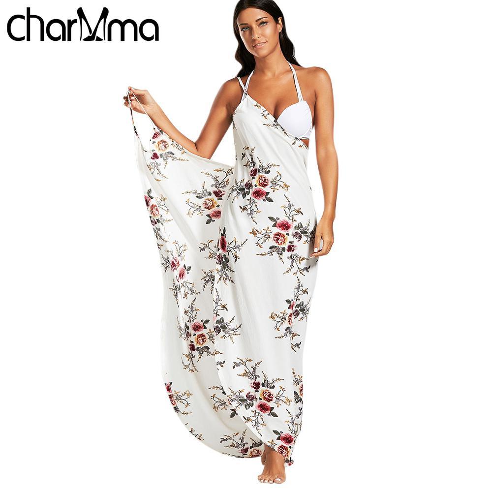 e46b3ea46f6cf Summer Beach Dresses Printed sundress boho Dress Tunic Women S Sarong  Dresses Multifunction Swimsuit Women Tunic sexy robe