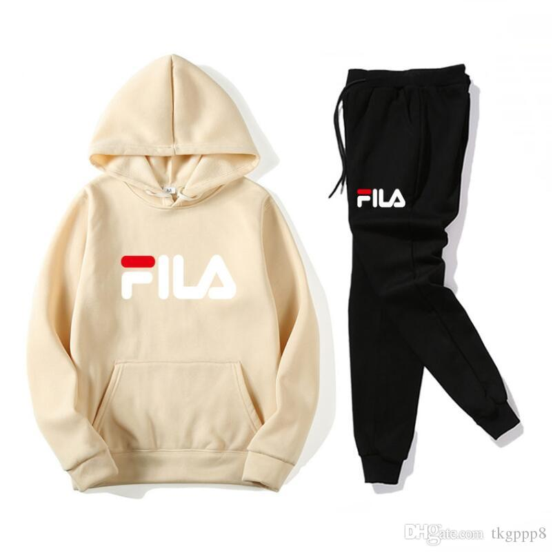 5da35efe NEW Women's Tracksuits FILA fashion Sweat Suits Sportwear Tracksuits Jogger  Suits Jacket + Pants Sporting Suit Costume de sport