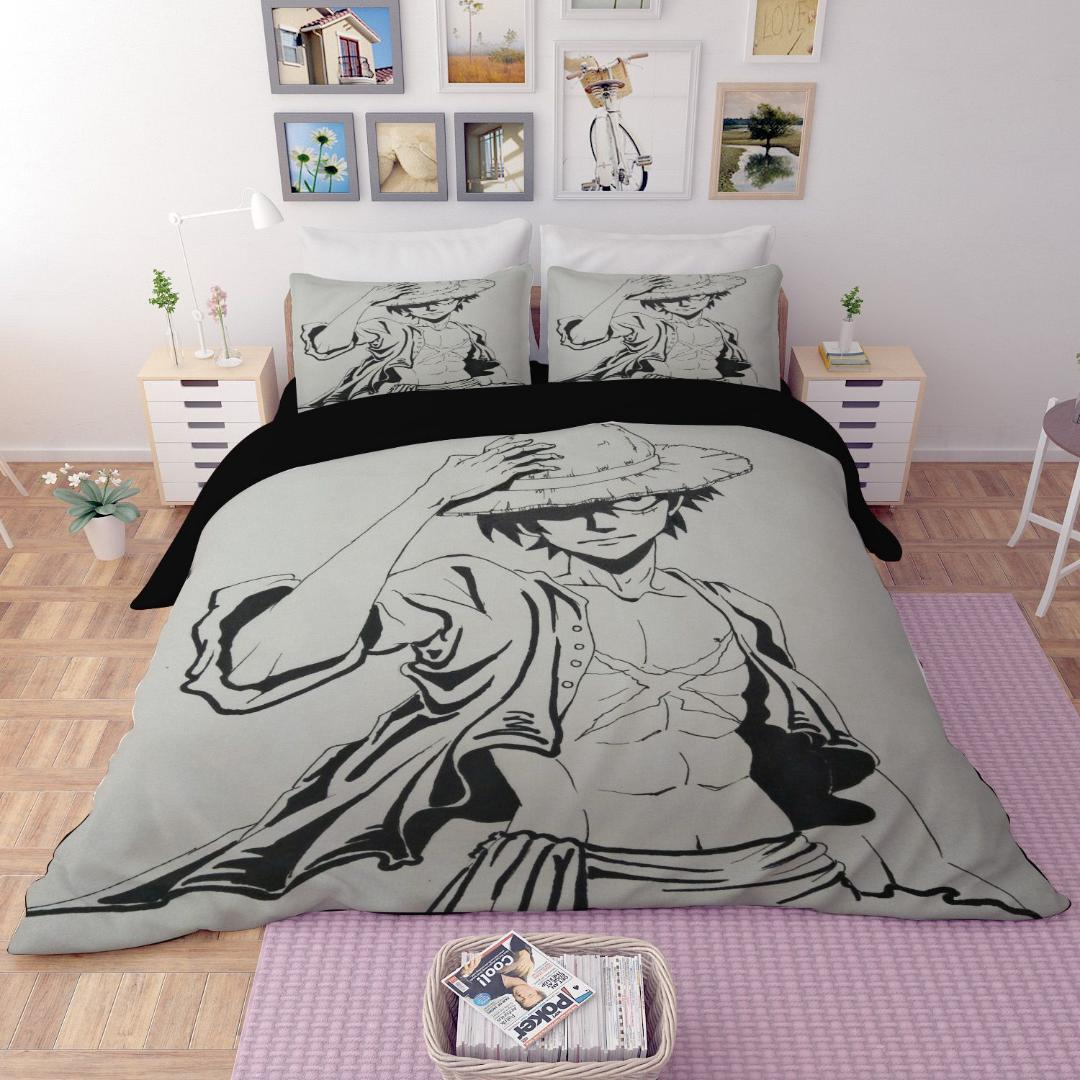 Duvet Cover 3d One Piece Luffy Zoro Nami Sanji Bedding Sets King